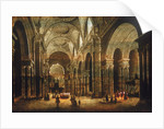 Interior view of St Paul's Cathedral by Anonymous