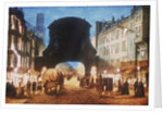 View of Temple Bar at night by Anonymous