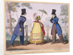 Fashionable Portraits, a scene in Hyde Park by Isaac Cruikshank