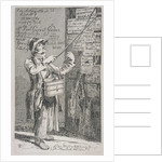 Billposter sticking bills up on a wall by John Thomas Smith