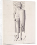 View of the effigy of a knight from Temple Church, London by George Hollis