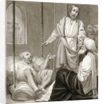 Christ healing the Paralysed Man let down by Ropes by Henry Corbould