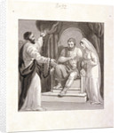 St Paul before the Governor of Caesarea, Felix, and his Wife, Drusilla by Henry Corbould