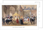 Queen Victoria at Temple Bar, London by Henry Warren