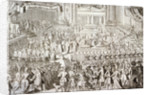Coronation of William III and Mary II in Westminster Abbey, London by Anonymous