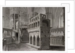Edward the Confessor's mausoleum, in the king's chapel, Westminster Abbey, London by