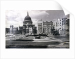 View of east end of St Paul's showing air raid damage in the vicinity, London by Anonymous