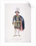 Gentleman in ceremonial costume by Edward Scriven