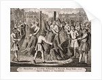 Execution of protestants at Smithfield, 1557 by Anonymous