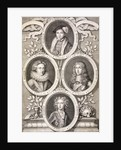 Edward VI, Henry and William, Dukes of Gloucester, and Henry, Prince of Wales by Simon Gribelin