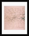 Military map of a thirty six mile area around London by