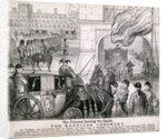 Princess Alexandra getting in her coach to leave Windsor Castle for her wedding, March 1863 by Anonymous