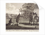 View of The Royal Archers in Finsbury Fields by Anonymous