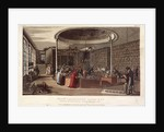 Interior view of the Temple of the Muses bookshop, Finsbury, London by Anonymous