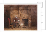 Possibly Sir John Spencer in Canonbury House; or Sir Walter Raleigh in the Old Pied Bull Inn by Thomas Hosmer Shepherd