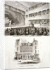 Interior and exterior views of the Haymarket Theatre, Westminster, London by