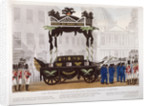 View of the funeral procession of Lord Nelson, London by Edward Orme