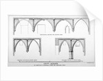 Sectional views of St Michael's Crypt, Aldgate Street, London, c1830(?) by J Emslie & Sons