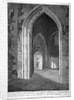 Interior view of the porch of the Church of St Alfege, London Wall, London by William Wise