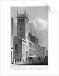 All Hallows Church, Bread Street, London by Thomas Hosmer Shepherd