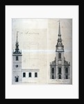 Elevation and plan of St Augustine, Watling Street, City of London by Anonymous