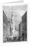 View of St Antholin from Watling Street, City of London by A Cruse