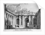 View of Lothbury Court, the Bank of England. City of London by