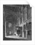 Interior view of the Church of St Bartholomew-the-Great, Smithfield, City of London by Joseph Skelton