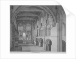 Interior view of the Church of St Bartholomew-the-Great, Smithfield, City of London by James Peller Malcolm