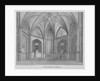 Interior of the Church of St Bartholomew-the-Less, City of London by Anonymous