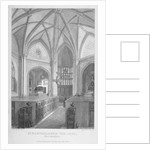Interior of the Church of St Bartholomew-the-Less, City of London by T Turnbull