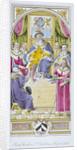 Painted window in St Bartholomew's Hospital, Smithfield, City of London by