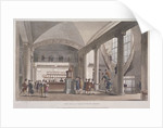 Interior view of the hall in the Auction Mart, Bartholomew Lane, City of London by Anonymous