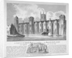 South view of Baynard's Castle with boats on the River Thames, City of London by Anonymous