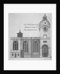 Elevation of the Church of St Benet Fink, City of London by Anonymous