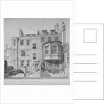Houses in the northern section of Bell Yard, Chancery Lane, City of London by Robert Blemmell Schnebbelie