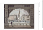 View of St Bride's Church, Fleet Street, through an archway, City of London by Anonymous