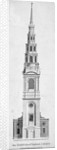 Steeple of St Bride's Church, Fleet Street, City of London by Anonymous