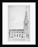View of the north side of St Bride's Church, Fleet Street, City of London by Charles Thomas Cracklow