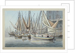 View of Billingsgate wharf with boats on the water, City of London by Robert Clevely