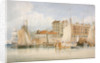 View of Billingsgate Wharf and market with vessels and people, City of London by James Lambert