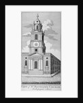 West view of the Church of St Botolph without Bishopsgate, City of London by Anonymous