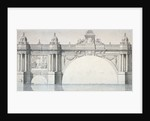 Design by Robert Mylne for a section of Blackfriars Bridge, London by Robert Mylne II