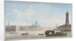 River Thames looking towards Blackfriars Bridge, London by Anonymous