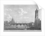 View of Blackfriars Bridge and St Paul's Cathedral, London by