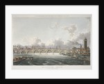 View of Blackfriars Bridge from the Strand Bridge, London by Anonymous