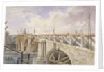 Demolition work being carried out on Blackfriars Bridge by George Maund