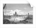 Looking towards Blackfriars Bridge from the west, London by
