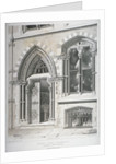 The doorway and lower windows of Crosby Hall at no 95 Bishopsgate, City of London by Vincent Brooks