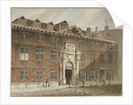 West front of Blackwell Hall, King Street, City of London by George Shepherd